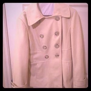 Winter white pea coat